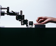The human touch finger has upwards of 2000 receptors and this machine enables measurement of tactile perception thresholds.
