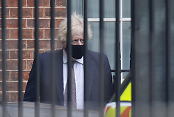 © Licensed to London News Pictures. 05/07/2021. London, UK. Prime Minister Boris Johnson leaves Downing Street in central London. Later the prime minister is expected to announce a final lifting of Covid-19 regulations on July 19th. Photo credit: Peter Macdiarmid/LNP
