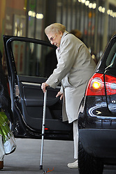 FILE PHOTO EXCLUSIVE ALL ROUNDER ***MINIMUM FEE £250 PER PICTURE APPLIES*** It has been reported today that Sheila Farebrother, Elton John's mum, has passed away. Sheila is seen in these pictures from 2 February 2016.<br /> <br /> Sheila Farebrother, Elton John's estranged mother, struggling to do her weekly shopping trip in Sainsbury's as she's supported by a walking stick. 2 February 2016. <br /> <br /> 2 February 2016.<br /> <br /> Please byline: Vantagenews.com