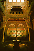 SPAIN, ANDALUSIA, GRANADA ALHAMBRA; the Moorish Royal Baths