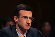 Peter Orszag testifies at his confirmation hearing to become OMB director on January 13,2009.  Photogeraph by Dennis Brack