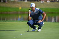 Si Woo Kim (KOR) lines up his putt on 16 during 3rd round of the World Golf Championships - Bridgestone Invitational, at the Firestone Country Club, Akron, Ohio. 8/4/2018.<br /> Picture: Golffile | Ken Murray<br /> <br /> <br /> All photo usage must carry mandatory copyright credit (© Golffile | Ken Murray)