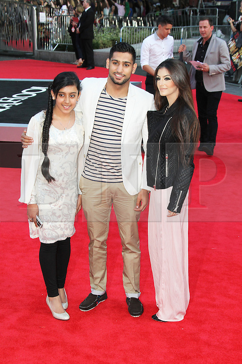 © Licensed to London News Pictures. 20/08/2013, UK. Amir Khan, One Direction: This Is Us - World film premiere, Leicester Square, London UK, 20 August 2013<br />  Photo credit : Richard Goldschmidt/Piqtured/LNP