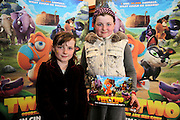 NO FEE PICTURES <br /> 19/4/15 Nessa Smyth age 8 and sister Nadine, age 10, Enfield at the Irish Premiere of Two by Two at the Savoy cinema in Dublin. Picture:Arthur Carron