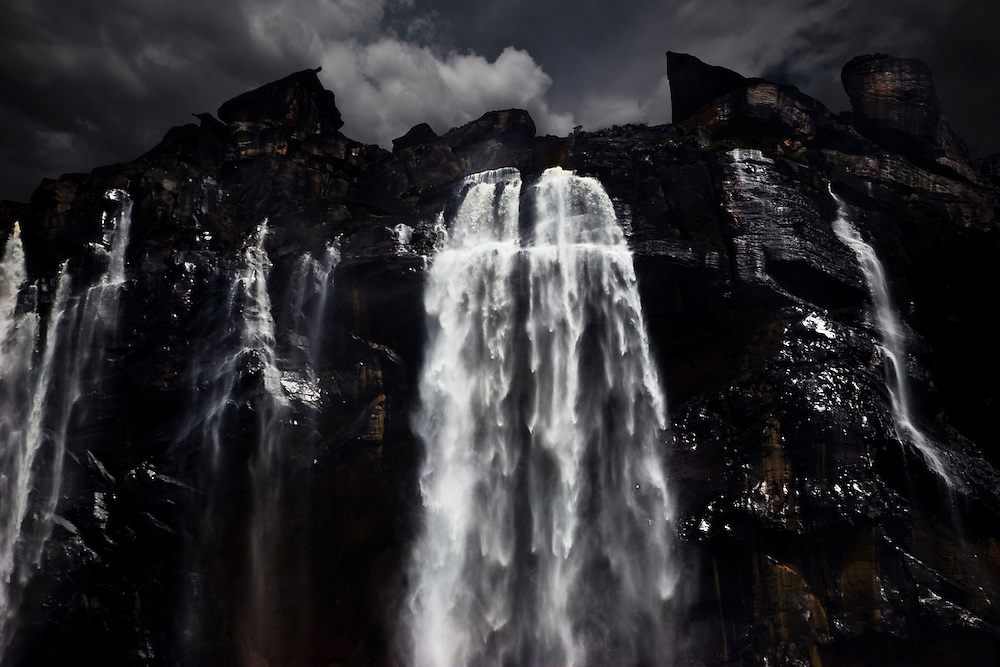 Salto Angel, located in the Guiana Highlands, Venezuela, is the highest waterfall in the world. The falls are 979m high, with an uninterrupted descent of 807m.