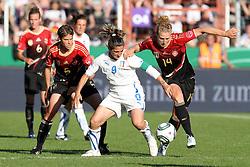 03.06.2011, Osnatel Arena, Osnabrueck, GER, WM 2012 FSP,  Deutschland (GER) vs Italien (ITA), .im Bild Kim Kulig  (re./GER) vs Patrizia Panico (ITA) during the WM 2011 Friendly Game, Germany vs Italy, at Osnatel Arena, Osnabrück, 2011-06-03, .EXPA Pictures © 2011, PhotoCredit: EXPA/ nph/  Hessland       ****** out of GER / SWE / CRO  / BEL ******