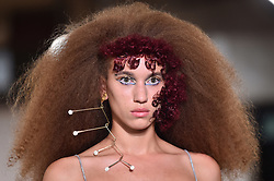 Models wear designes by Charlotte Knowles during the Fashion East Spring/Summer 2019 London Fashion Week show in Covent Garden, London. Picture date: Sunday September 16th, 2018. Photo credit should read: Matt Crossick/ EMPICS Entertainment.