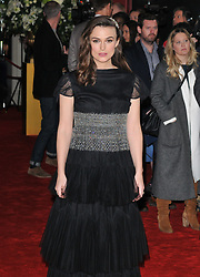 """Keira Knightley joins other stars at the """"The Aftermath"""" world film premiere, Picturehouse Central, in London - February 18, 2019. 18 Feb 2019 Pictured: Keira Knightley. Photo credit: CAN/Capital Pictures / MEGA TheMegaAgency.com +1 888 505 6342"""