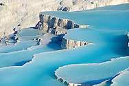 Pictures & Image  of Pamukkale Travetine Terrace, Turkey. Images of the white Calcium carbonate rock formations. Buy as stock photos or as photo art prints. 5 Pamukkale travetine terrace water cascades, composed of white Calcium carbonate rock formations, Pamukkale, Anatolia, Turkey .<br /> <br /> If you prefer to buy from our ALAMY PHOTO LIBRARY  Collection visit : https://www.alamy.com/portfolio/paul-williams-funkystock/pamukkale-hierapolis-turkey.html<br /> <br /> Visit our TURKEY PHOTO COLLECTIONS for more photos to download or buy as wall art prints https://funkystock.photoshelter.com/gallery-collection/3f-Pictures-of-Turkey-Turkey-Photos-Images-Fotos/C0000U.hJWkZxAbg