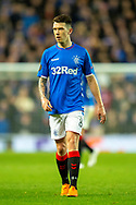 Ryan Jack (#8) of Rangers FC during the Europa League group stage match between Rangers FC and Villareal CF at Ibrox, Glasgow, Scotland on 29 November 2018.