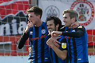 0-1, GOAL celebration by Jimmy Keohane of Rochdale during the EFL Sky Bet League 1 match between Accrington Stanley and Rochdale at the Fraser Eagle Stadium, Accrington, England on 10 October 2020.