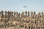 """Mcc0021206 . Sunday Telegraph..Soldiers who have just arrived """"in theatre"""" undergo RSOI training to prepare them for a six month tour, at Camp Bastion, Helmand province, Afghanistan...Helmand , 17 March  2010"""
