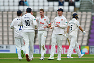Wicket - Matt Quinn of Essex celebrates taking the wicket of Joe Weatherley of Hampshire during the first day of the Specsavers County Champ Div 1 match between Hampshire County Cricket Club and Essex County Cricket Club at the Ageas Bowl, Southampton, United Kingdom on 5 April 2019.