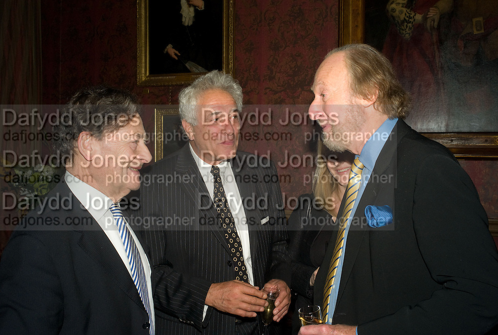 NIGEL LAWSON, PETER MAYER AND ED VICTOR, Book launch for AN APPEAL TO REASON, A Cool Look at Global Warming by Nigel Lawson. Hosted by NIGELLA LAWSON, DUCKWORTH PUBLISHERS and ED VICTOR LTD.<br />