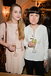 Left to right, DAISY DE VILLENEUVE and ROSE BLAKE at a dinner hosted by Kate Spade NY to celebrate Chelsea in Bloom held at Daphne's, 112 Draycott Avenue, London on 20th May 2015.