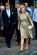 Koning Willem Alexander en koningin Maxima bregen een bezoek aan Bezoek aan Dogpatch Labs tijdens de eerste dag van het staatsbezoek aan Ierland. <br /> <br /> King Willem Alexander and Queen Maxima visited Dogpatch Labs during the first day of the state visit to Ireland.