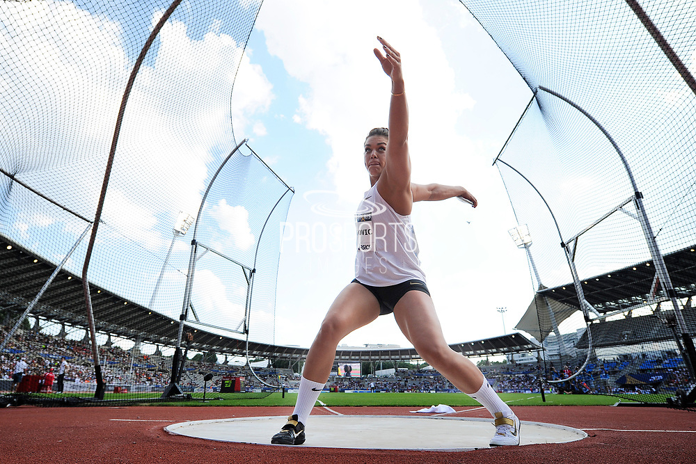 Sandra Perkovic (CRO) competes in Women's Discus Throw during the Meeting de Paris 2018, Diamond League, at Charlety Stadium, in Paris, France, on June 30, 2018 - Photo Jean-Marie Hervio / KMSP / ProSportsImages / DPPI