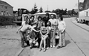 Rabbit, Adrian Boot, Andrew King, Archie Leggett, Ollie Halsall and others during a Kevin Ayres tour 1974