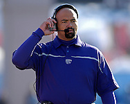 Kansas State head coach Ron Prince on the sidelines in the first half against Kansas at Memorial Stadium in Lawrence, Kansas, November 18, 2006.  Kansas beat K-State 39-20.<br />