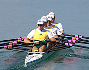 2005 FISA Rowing World Cup Munich,GERMANY. 18.06.2005;.AUS M4X moves away from the start, in their Sat. semi final at the FISA World Cup Regatta in Munich. Bow Trent Collins, Craig Collins, Chris Morgan and Jason Day.Photo  Peter Spurrier. .email images@intersport-images[Mandatory Credit Peter Spurrier/ Intersport Images] Rowing Course, Olympic Regatta Rowing Course, Munich, GERMANY