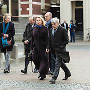 NLD/Utrecht/20140215 - Herdenkingsdienst Els Borst in de Domkerk , Oud Minister Winnie Sorgdrager en partner Frits Lekkerkerker