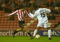 Photo. Glyn Thomas. <br /> Sunderland v Nottingham Forest. <br /> Coca Cola Championship. 14/09/2004.<br /> Sunderland's Julio Arca (L) scores his side's first goal.