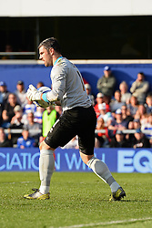 Blackpool's goalkeeper Matthew Gilks  - Photo mandatory by-line: Mitchell Gunn/JMP - Tel: Mobile: 07966 386802 29/03/2014 - SPORT - FOOTBALL - Loftus Road - London - Queens Park Rangers v Blackpool - Championship