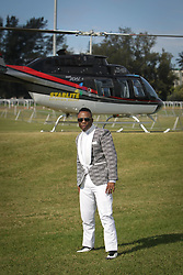 07062018 (Durban) DJ Tira arriving in style the adrenaline of Vodacom Durban July flowing like water among the massive crowd expected at Greyville Racecourse in Durban for the running of the R4.25 million, Grade 1, Vodacom Durban July, the greatest racing, fashion and entertainment extravaganza on the African continent.<br /> Picture: Motshwari Mofokeng/African News Agency/ANA