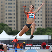 Erica Jarder, Sweden, in action during the Women's long Jump competiton during the Diamond League Adidas Grand Prix at Icahn Stadium, Randall's Island, Manhattan, New York, USA. 13th June 2015. Photo Tim Clayton