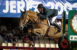 Babington Kevin, (IRL), Carling King<br /> Jumping day 1<br /> World Equestrian Games Jerez de la Fronteira 2002<br /> Photo © Dirk Caremans