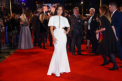Michelle Rodriguez arriving for the 62nd BFI London Film Festival Opening Night Gala screening of Widows held at Odeon Leicester Square, London.