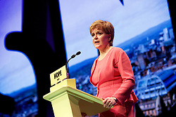 Nicola Sturgeon speaking at the SNP annual conference in Glasgow. pic copyright Terry Murden @edinburghelitemedia