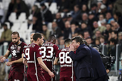 May 3, 2019 - Turin, Italy - Torino coach Walter Mazzarri talks with Torino forward Andrea Belotti (9) during the Serie A football match n.35 JUVENTUS - TORINO on 03/05/2019 at the Allianz Stadium in Turin, Italy. (Credit Image: © Matteo Bottanelli/NurPhoto via ZUMA Press)