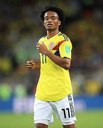 Colombia's Juan Cuadrado during the FIFA World Cup 2018, round of 16 match at the Spartak Stadium, Moscow. PRESS ASSOCIATION Photo. Picture date: Tuesday July 3, 2018. See PA story WORLDCUP England. Photo credit should read: Adam Davy/PA Wire. RESTRICTIONS: Editorial use only. No commercial use. No use with any unofficial 3rd party logos. No manipulation of images. No video emulation
