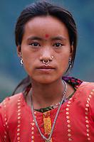 Nepal, region de Nuwakot, village de Yarsa, Ethnie Tamang. // Nepal, Nuwakot region, Yarsa village, Tamang ethnic group.