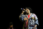 Kim Burrell sings with George Clinton at Electric Picnic 2008.