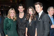 MARIGAY MCKEE; DAVID GANDY; SARAH ANN MACKLIN; ALEX MCKEE, Dinner to celebrate the opening of the first Berluti lifestyle store hosted by Antoine Arnault and Marigay Mckee. Harrods. London. 5 September 2012.