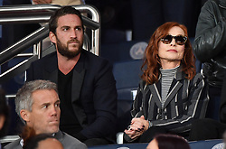 Actress Isabelle Huppert and son Lorenzo Chammah watching from the stands the Champions League Paris Saint-Germain v Real Madrid football match at the Parc des Princes stadium in Paris, France on September 18, 2019. Photo by Christian Liewig/ABACAPRESS.COM