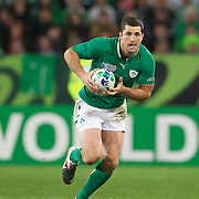Rob Kearney, Ireland, in action during the Ireland V Italy Pool C match during the IRB Rugby World Cup tournament. Otago Stadium, Dunedin, New Zealand, 2nd October 2011. Photo Tim Clayton...