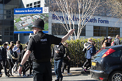 © Licensed to London News Pictures . 24/03/2017 . Bury , UK . Police are evacuating hundreds of students from Bury Sixth Form College this afternoon after a security alert . Photo credit: Joel Goodman/LNP