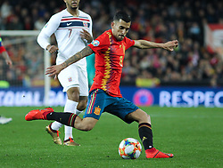 March 23, 2019 - Valencia, Valencia, Spain - Ceballos of Spain in action during European Qualifiers championship, , football match between Spain and Norway, March 23th, in Mestalla Stadium in Valencia, Spain. (Credit Image: © AFP7 via ZUMA Wire)