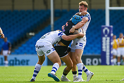 Jack Nowell is tackled by Will Butt - Ryan Hiscott/JMP - 09/09/2018 - RUGBY - Sandy Park - Exeter, England - Exeter Braves v Bath United, Premiership Rugby Shield