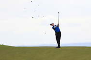 Joshua Hill (Galgorm Castle) on the 18th fairway during Round 2 of the Connacht U16 Boys Amateur Open Championship at Galway Bay Golf Club, Oranmore, Galway on Wednesday 17th April 2019.<br /> Picture:  Thos Caffrey / www.golffile.ie