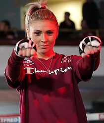 Shannon Courtenay during a public workout at the Grand Central Hall, Liverpool. Picture date: Wednesday October 6, 2021.