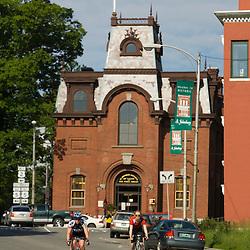 Biking in St. Johnsbury, Vermont.  The St. Johnsbury Anthaneum. (MR)