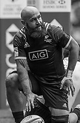 """Twickenham, Surrey United Kingdom.  New Zealander, D.J.FORBES, after touching down in the pool C Game. New Zealand vs Fiji, at the """"2017 HSBC London Rugby Sevens"""",  Saturday 20/05/2017 RFU. Twickenham Stadium, England    <br /> <br /> [Mandatory Credit Peter SPURRIER/Intersport Images]"""