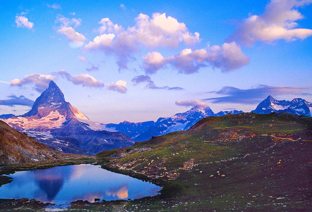 The Matterhorn (Riffelsee in foreground), near Zermatt, Switzerland