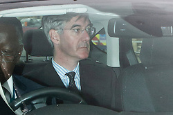 © Licensed to London News Pictures. 03/09/2019. London, UK. Leader of The House of Commons Jacob Ree-Mogg arrives at The Houses of Parliament .Parliament is returning from the summer recess today with MPs expected to try to stop a no-deal Brexit. Prime Minister Boris Johnson has threatened to hold a snap election if the legislation is passed.  Photo credit: George Cracknell Wright/LNP