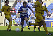 Reading, England, Nationwide Division One Football Reading v Preston North End, Nicky Forster runs through the gap in the Preston defence, at the Madejski Stadium, on 18/10/2003 [Credit  Peter Spurrier/Intersport Images]..