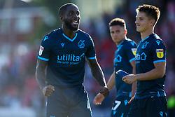 Abu Ogogo of Bristol Rovers celebrates beating Lincoln City - Mandatory by-line: Robbie Stephenson/JMP - 14/09/2019 - FOOTBALL - Sincil Bank Stadium - Lincoln, England - Lincoln City v Bristol Rovers - Sky Bet League One